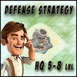 Optimal Defense Base Layout (HQ 5 – 8 lvl)