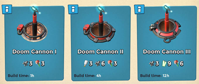 Doom Cannons levels