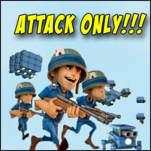 boom beach attack only