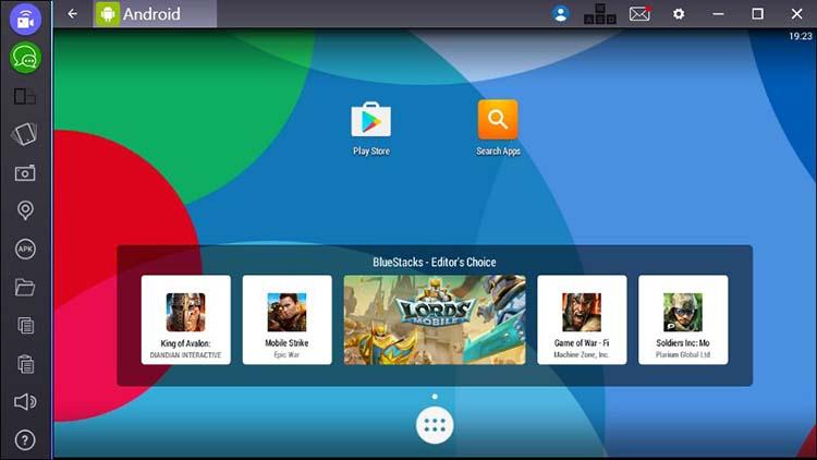 BlueStacks desktope