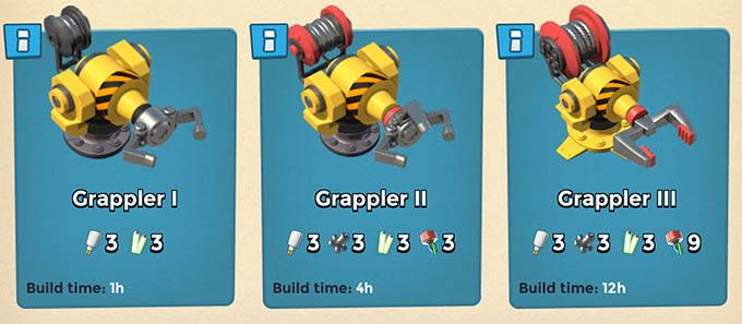 Grappler levels