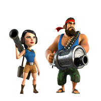 Heavy and Zooka Boom Beach