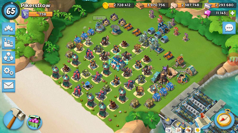 Defense from warriors boom beach