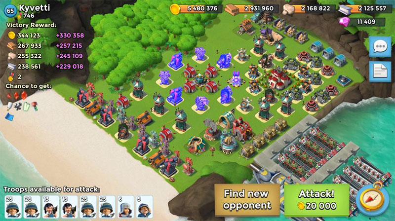 good defense boom beach