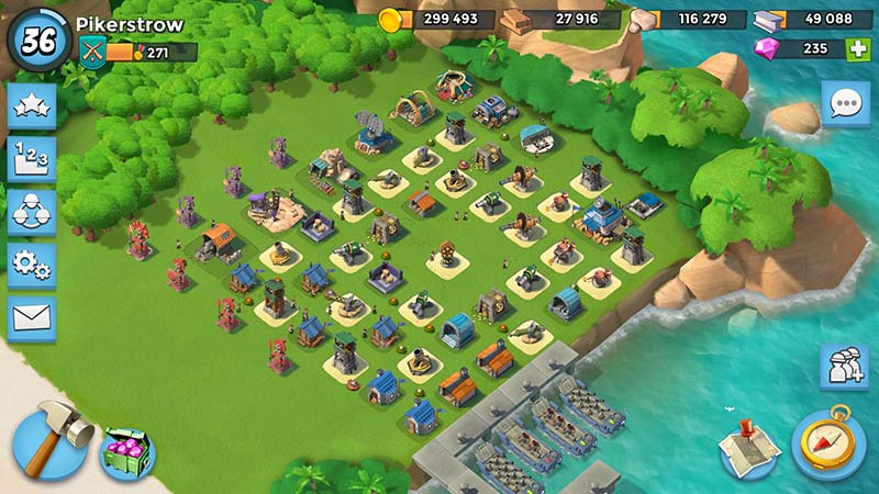Boom Beach good defense HQ15