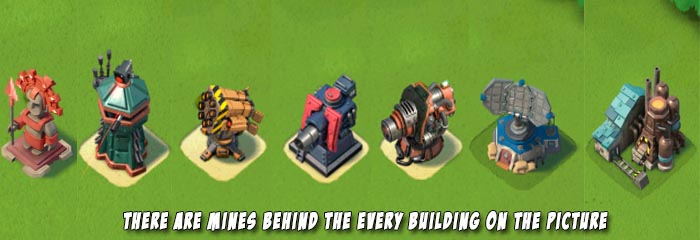 Hidden mines in Boom Beach