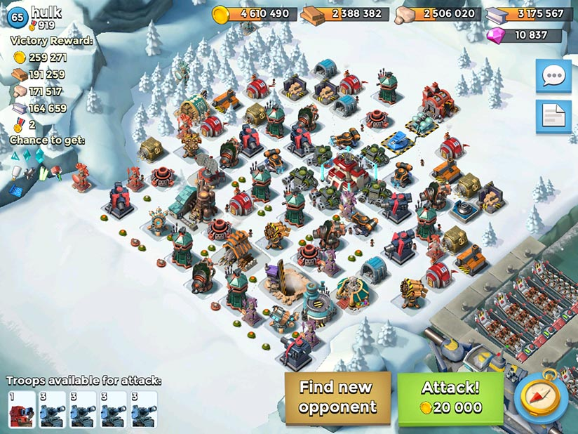 Paired mines Boom Beach