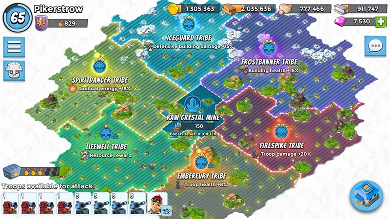 Boom Beach Map All about the Tribes | Boom Beach. All about the Game! Boom Beach Map